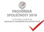 Prověřená společnost 2016