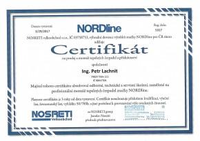 Certifikát NORDLINE