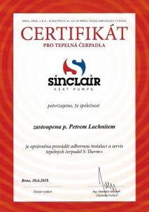 tepelná čerpadla Sinclair